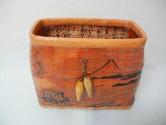 一閑張りアート フリーBox(江戸の暮らしシリーズ和紙)の画像