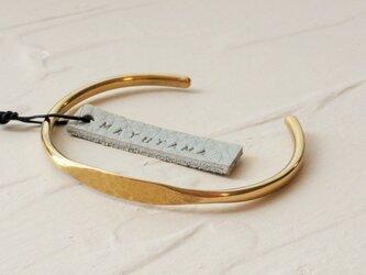N様ご予約品 真鍮のシンプルブレスレット(fukura) 「sold」の画像
