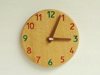 直径22.7cm 掛け時計 オーク【1723】の画像