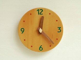 直径15.6cm 掛け時計 オーク【1726】の画像