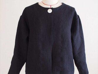 bolero jacket -navy linen-の画像