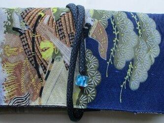 送料無料 男の子の着物で作った和風財布・ポーチ 2935の画像
