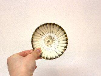 小鹿田焼(坂本拓磨) 3寸皿(刷毛目・白)の画像