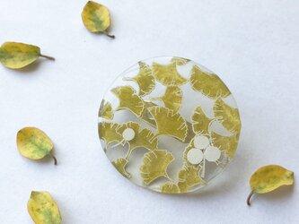イチョウの絨毯ブローチ 小の画像