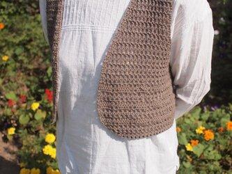 かぎ針編みのシンプルショートベストの画像