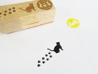 月見猫ちゃんはんこセットの画像