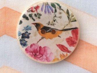 ココナッツ&レジンボタン 鳥と花 903の画像