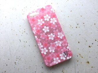 友禅和紙iPhone5/5s/SEカバー[桜咲く]の画像
