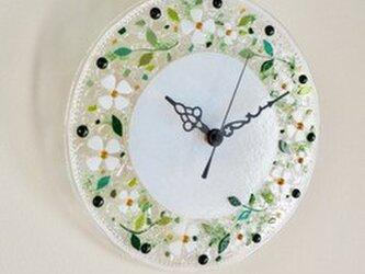 【即納】壁掛け時計(リトルフラワー)の画像