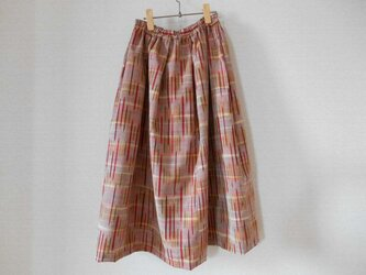 ほっこり秋色の紬のスカートの画像