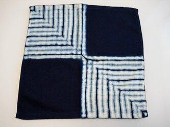 藍染 タオルハンカチ 市松の画像