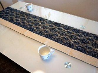 藍染レース テーブルランナー 淡色の画像