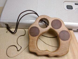 「猫たんの肉球」メイプルのスマホ用リングストラップ(送料込)の画像