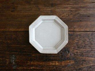 八角ドットリム小皿(ライトグレー)の画像