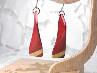 「そよ風になびく寄木」ピアス・イヤリング1(送料込)の画像