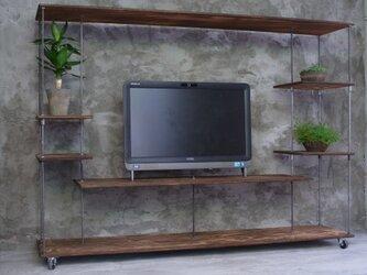 wood iron shelf 1010*1360*300の画像