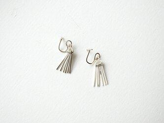 Short fringe earring sv925  フリンジ イヤリング/イヤークリップの画像