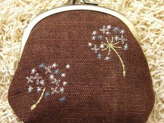 手刺繍・がまぐち(たんぽぽ)の画像