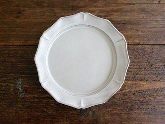 花リム皿L(ライトグレー)の画像