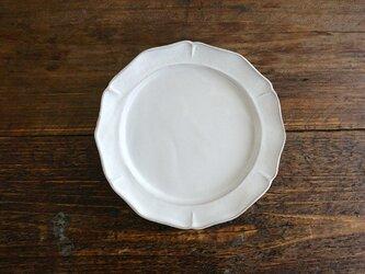 花リム皿M(ライトグレー)の画像