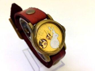 友禅和紙の和時計 うさぎの画像