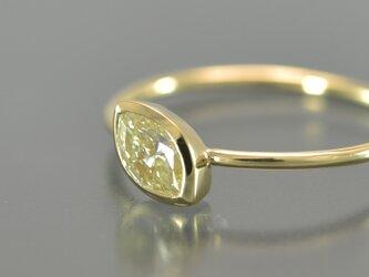 K18YGワイヤーリング マーキスダイヤモンド 034371の画像