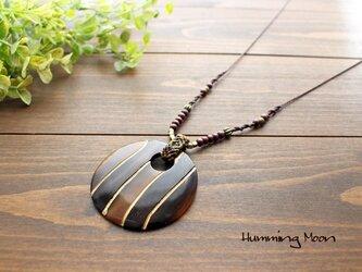 水牛×ウッドのサークルトップネックレスの画像