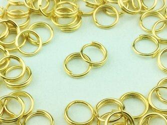 送料無料 二重 丸カン 6mm 100個 ゴールド 金色 マルカン 丸環  リング パーツ ハンドメイド 金具 (AP0098)の画像