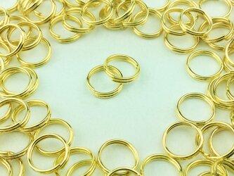 送料無料 二重丸カン 8mm 100個 ゴールド 金色 マルカン 丸環 リング パーツ ハンドメイド 金具 (AP0100)の画像