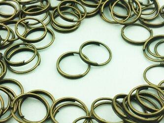 送料無料 二重 丸カン 10mm 100個 金古美 マルカン 丸環 アクセ リング パーツ ハンドメイド 金具 (AP0101)の画像