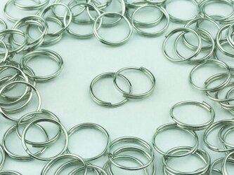 送料無料 二重丸カン 10mm 100個 シルバー 銀色 マルカン アクセ リング パーツ ハンドメイド 金具 (AP0102)の画像
