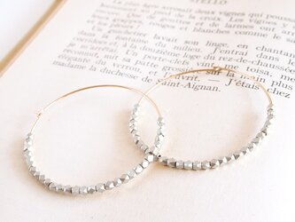 14KGF Metal Beads Hoops SV / Lの画像