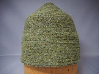 三角帽子ブリムなし(グリーン)の画像