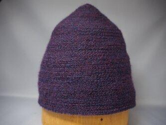 三角帽子ブリムなし(パープル)の画像