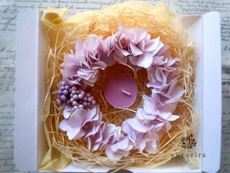 [Sold out] 紫陽花リースの画像