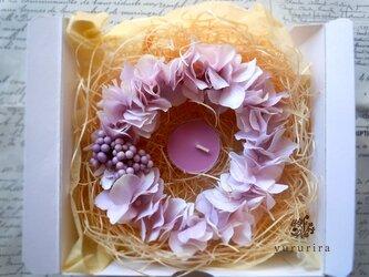 紫陽花リースの画像