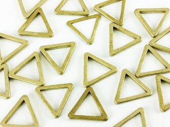 送料無料 フレーム パーツ 三角 ゴールド 20個 枠 トライアングル レジン チャーム セッティング  (AP0148)の画像