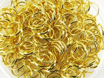 送料無料 丸カン ゴールド 7mm 200個 マルカン 金 キーホルダー ストラップ パーツ 金具 丸環 (AP0156)の画像