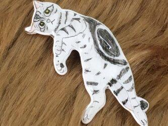 うにゃにゃん猫ピンブローチの画像