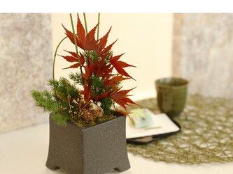 人気 和風プリザーブドフラワー 紅葉と鹿 Putican Rose 長寿お祝い ギフト お祝い 還暦祝い お誕生日 秋冬限定 の画像