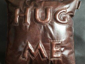 本革ぷっくりクッションHUG ME(L)の画像