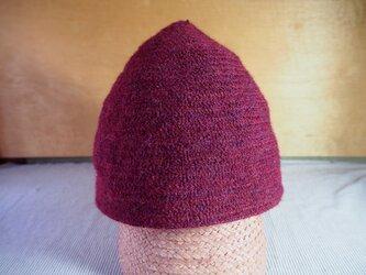 三角帽子ブリムなし(赤)の画像