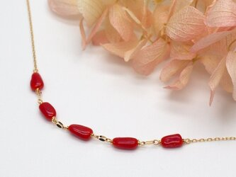 K10 情熱の赤 イタリア産赤サンゴのネックレスの画像