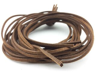 送料無料 スエード 紐 1m 10本 ブラウン 茶色 革ひも 革ヒモ 革紐 チョーカー ネックレス パーツ AP0228の画像
