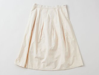 【送料無料】enrica cottonskirt beige / botanical dyeの画像