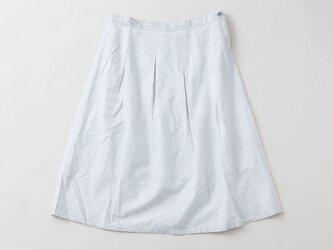 【送料無料】enrica cottonskirt lightgrey / botanical dyeの画像