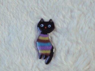 七宝 しましまセーターの黒猫の画像