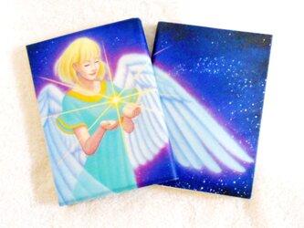天使のブックカバー ナチュラル/カラータイプ ゆったり文庫本サイズ 水や汚れに強く丈夫!! ワックスペーパーの画像