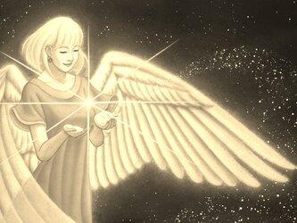 天使のブックカバー 艶肌/セピアタイプ ゆったり文庫本サイズ 水や汚れに強く丈夫!! ワックスペーパーの画像
