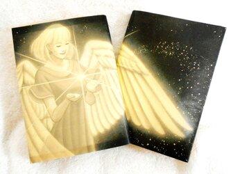 天使のブックカバー ナチュラル/セピアタイプ ゆったり文庫本サイズ 水や汚れに強く丈夫!! ワックスペーパーの画像
